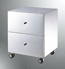 Stainless Steel Cabinet with 2 Drawer and Casters
