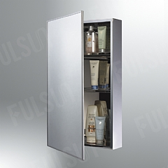 Stainless steel cabinet with thick S/S framed mirrored door