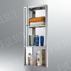 Stainless steel cabinet with thick toughened glass door