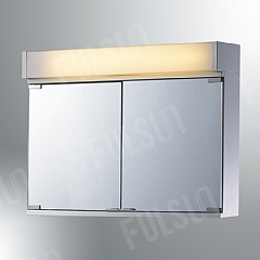 illuminating stainless steel cabinet with plastic lens and