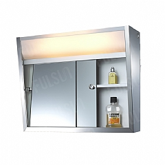 TOP-Lighted Sliding Mirror Cabinet
