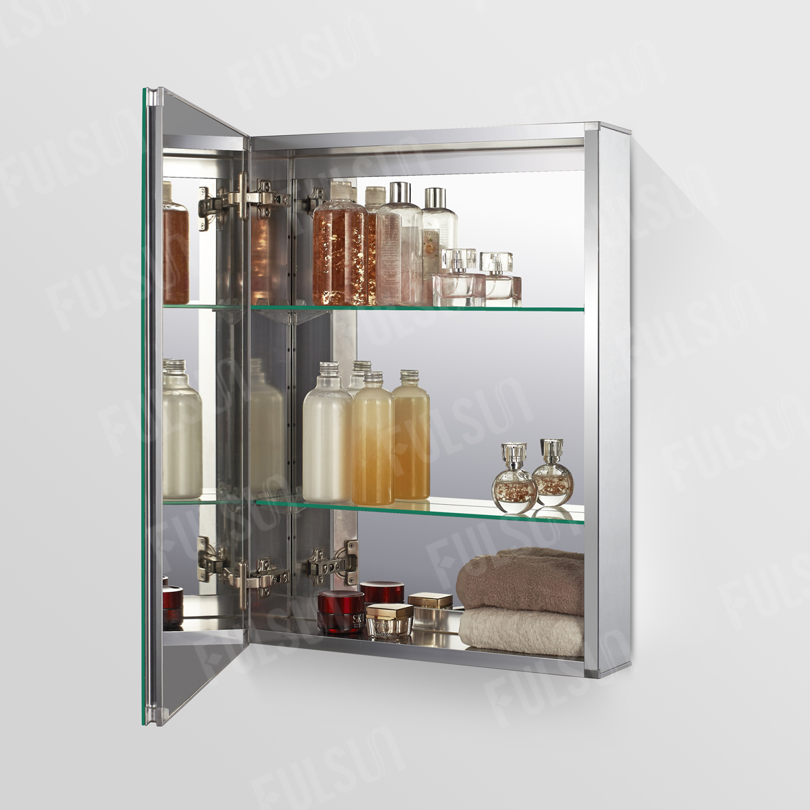 ALI5065  Aluminum Mirror Cabinet with Double LED light