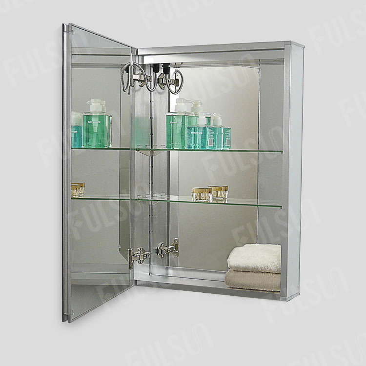 Aluminum Mirror Cabinet with LED light