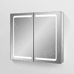 ALI8070  Aluminum Mirror Cabinet,Double Door with LED light