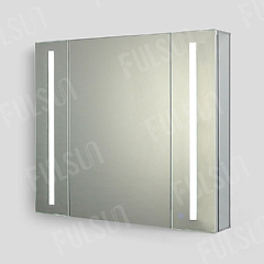 ALI9580  Aluminum Mirror Cabinet,Double Door with LED light