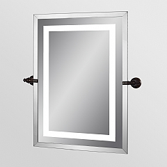 stainless steel frame clamp mirror with light
