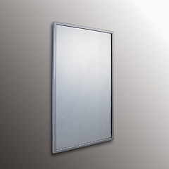 Stainless Steel Framed Theft Proof Mirror